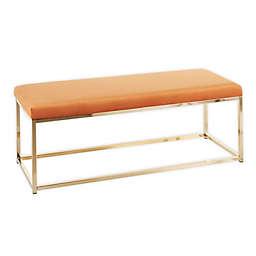 LumiSource®  Zenn Bench in Gold/Burnt Orange