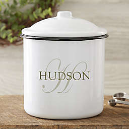 The Heart Home Stainless Steel Canister in White