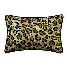 Robert Graham® Leopard Print Oblong Throw Pillow in Taupe