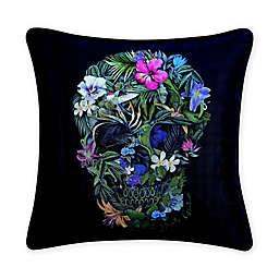 Robert Graham® Skull Square Throw Pillow in Black