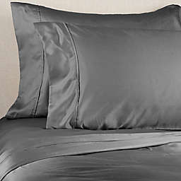 Brookstone® BioSense 500-Thread-Count Tencel Standard/Queen Pillowcase Set in Charcoal