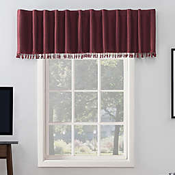 Sun Zero® Evelina 17-Inch Backtab Valance in Bordeaux