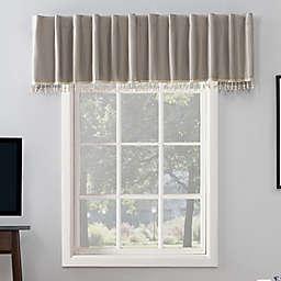 Sun Zero® Evelina 17-Inch Backtab Curtain Valance in Stone