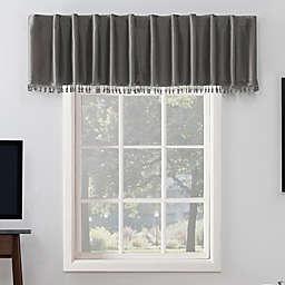 Sun Zero® Evelina 17-Inch Backtab Curtain Valance in Grey