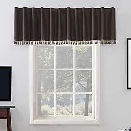 Sun Zero® Evelina 17-Inch Backtab Curtain Valance in Walnut