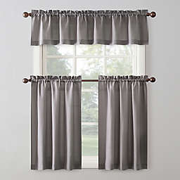 Sun Zero® Martine 36-Inch  3-Piece Curtain Set in Grey