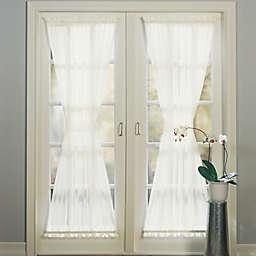 No.918® Emily 40-Inch Sheer Door Curtain in Charcoal (Single)