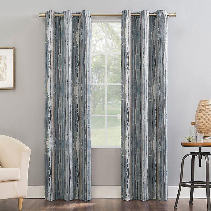 Alternate image 1 for Sun Zero®Allegory Abstract Painting Room Darkening Grommet  Curtain Panel