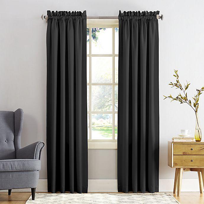Alternate image 1 for Sun Zero® Bella Room Darkening Rod Pocket Window Curtain Panel (Single)