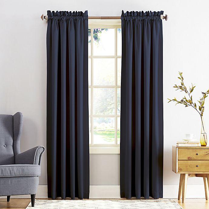Alternate image 1 for Sun Zero® Bella Room Darkening Rod Pocket Window Curtain Panel