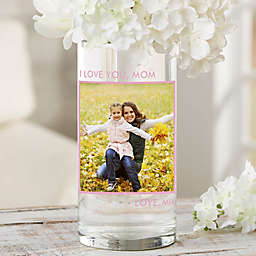 """Picture Perfect Personalized 7.5"""" Photo Vase for Mom"""
