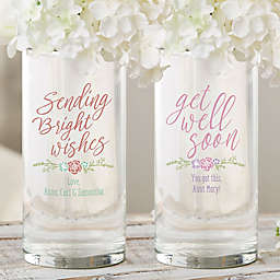 """Get Well Soon Personalized 7.5"""" Cylinder Vase"""