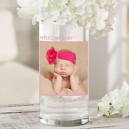 """Picture Perfect Personalized 7.5"""" Baby Photo Vase"""