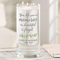 """Botanical Memorial Personalized 7.5"""" Glass Memorial Vase"""