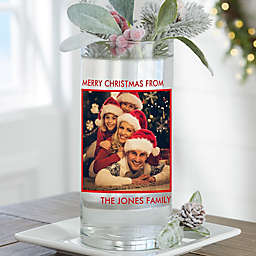 """Picture Perfect Personalized 7.5"""" Christmas Photo Vase"""