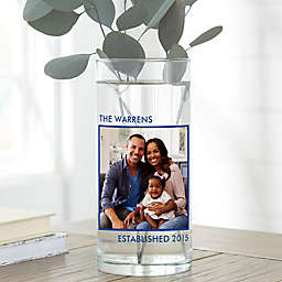 """Picture Perfect Personalized 7.5"""" Family Photo Vase"""
