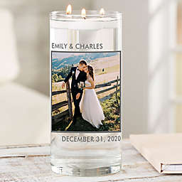 """Picture Perfect Personalized 7.5"""" Wedding Photo Vase"""