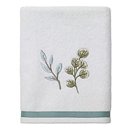Avanti Ombrè Leaves Hand Towel in White
