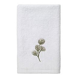 Avanti Ombrè Leaves Fingertip Towel in White
