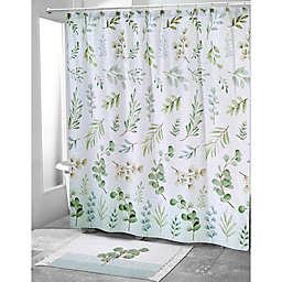 Avanti Ombrè Leaves Shower Curtain
