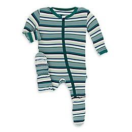 KicKee Pants® Striped Footie Pajama in Blue