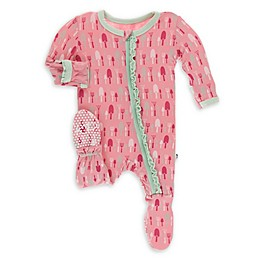 KicKee Pants® Strawberry Garden Tool Footie Pajama in Pink