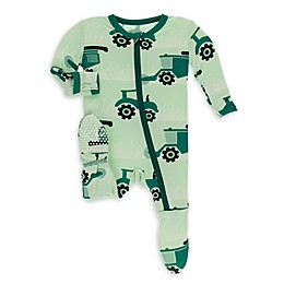 KicKee Pants® Pistachio Tractor Footie Pajama in Green