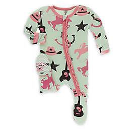 KicKee Pants® Pistachio Cowboy Footie Pajama in Green