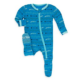 KicKee Pants® Amazon Cowboy Footie Pajama in Blue