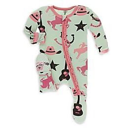 KicKee Pants® Cowboy Footie Pajama in Pistachio
