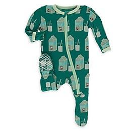 KicKee Pants® Milk Footie Pajama in Green