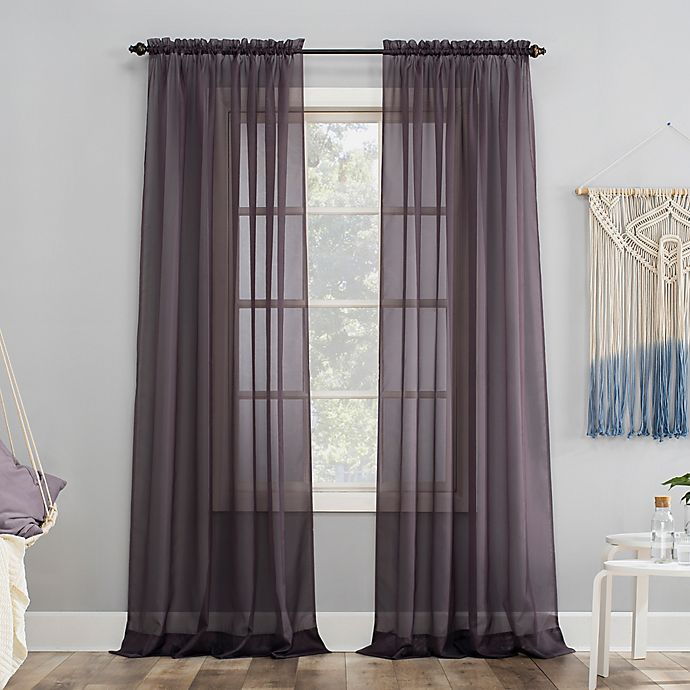 Alternate image 1 for No.918® Emily Sheer Voile Rod Pocket Window Curtain Panel