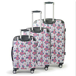 ful® Disney® Minnie Floral 3-Piece Hard Side Spinner Luggage Set in White