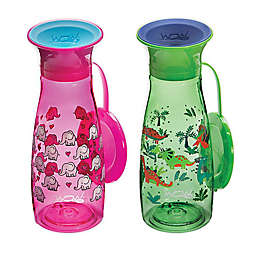 Wow Cup® 2-Pack 12 oz. Sippy Cups with Travel Lids