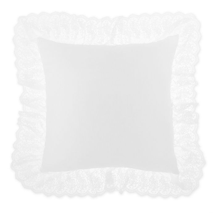 Alternate image 1 for Wamsutta® Vintage Chapelle Square Throw Pillow in Bright White