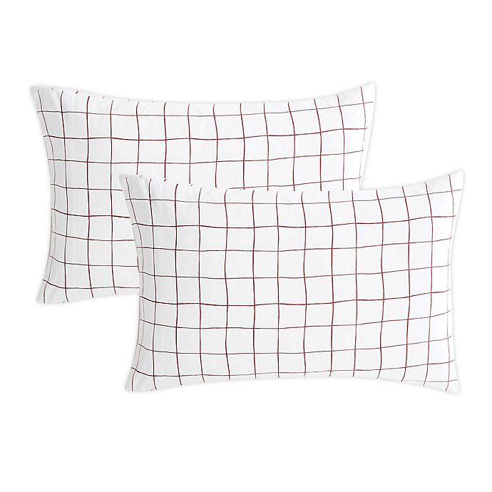 Alternate image 1 for SALT™ Back To College Standard Microfiber Pillowcases in Red (Set of 2)
