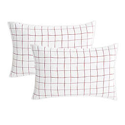 SALT™ Back To College Standard Microfiber Pillowcases in Red (Set of 2)
