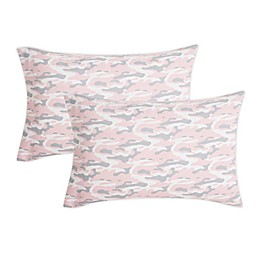 Salt® Back To College Standard Microfiber Pillowcases in Pink (Set of 2)