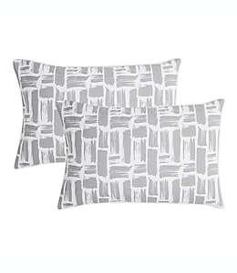 Fundas para almohadas SALT™ Brush Stroke Truly Soft estándar color gris
