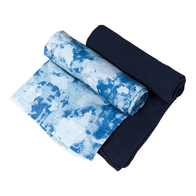 Alternate image 1 for The Honest Company® 2-Pack Watercolor World Organic Cotton Swaddle Blanket