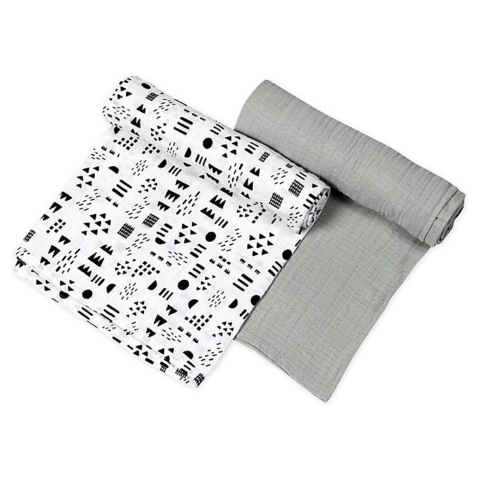 Alternate image 1 for The Honest Company® 2-Pack Pattern Play Organic Cotton Swaddle Blanket