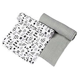 The Honest Company® 2-Pack Pattern Play Organic Cotton Swaddle Blanket