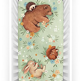 Rookie Humans® Enchanted Meadow Fitted Crib Sheet