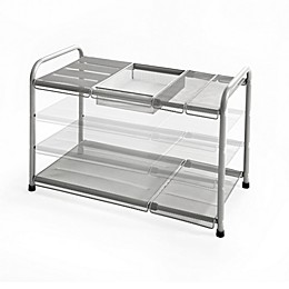ORG™ 2-Tier Mesh Expandable Under-Sink Shelf in Silver