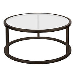 Filament Design™ Parker Round Coffee Table in Blackened Bronze