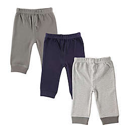Luvable Friends® Size 3T 3-Pack Tapered Ankle Pants in Grey Stripe