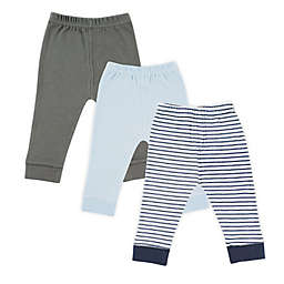 Luvable Friends® Size 3T 3-Pack Tapered Ankle Pants in Blue/Grey