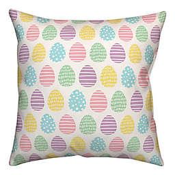Pastel Egg Pattern 18x18 Throw Pillow