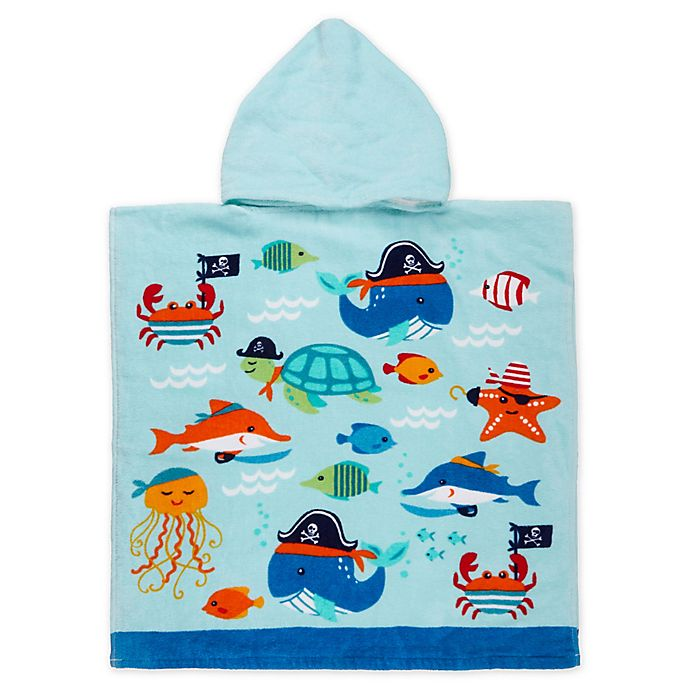 Alternate image 1 for Ocean Friends Kids Hooded Beach Towel