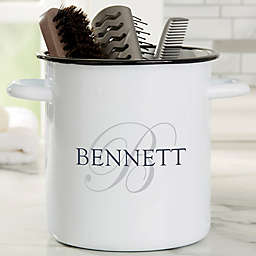 The Heart of Our Home Personalized Bathroom Enamel Jar - 72 oz. Accessory Holder